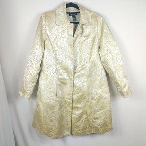 Lane Bryant Jacket / Coat / Blazer Gold Embroidery